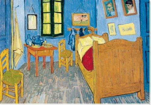 dk van gogh vincents schlafzimmer in arles. Black Bedroom Furniture Sets. Home Design Ideas